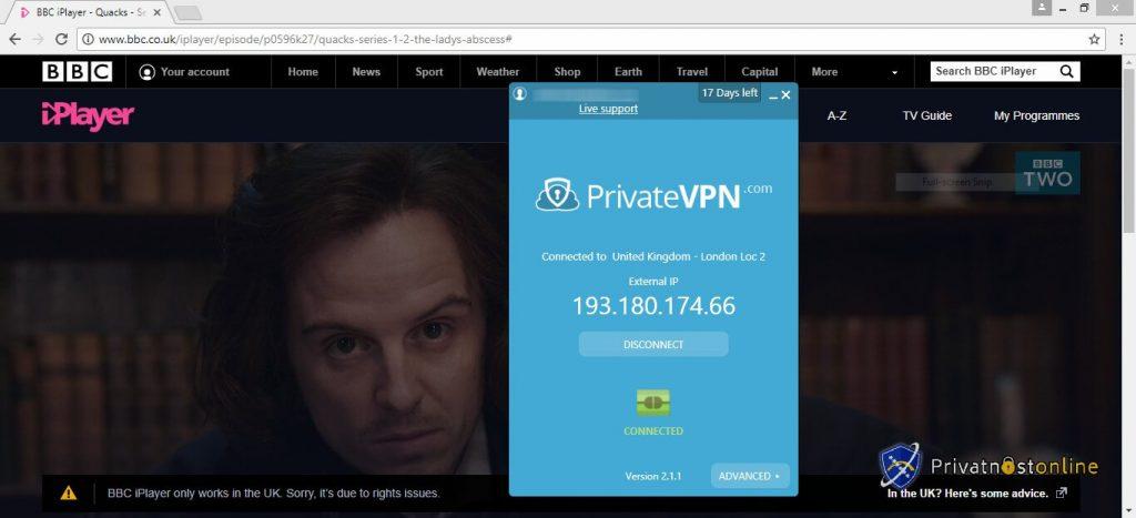S PrivateVPN-om možete gledati BBC iPlayer