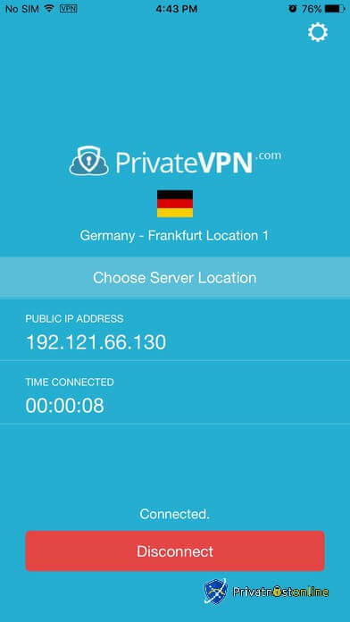 Private VPN za iOS