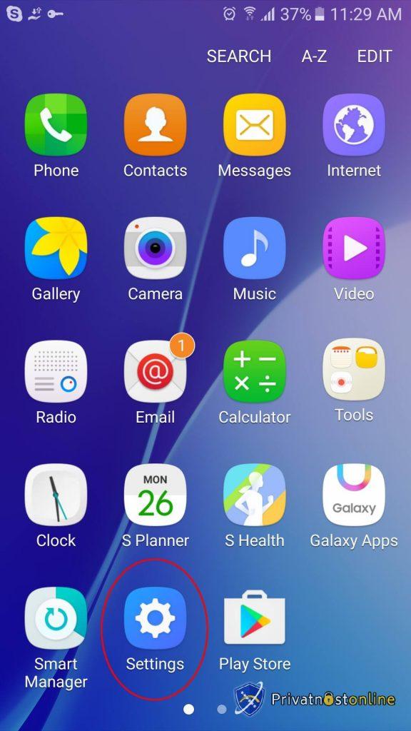 Kako instalirati VPN na Android 1